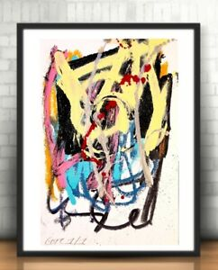 CORBELLIC ABSTRACT ORIGINAL PAINTING EXPRESSIONISM ACRYLIC QUEEN MODERNISM DECOR