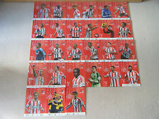 SUNDERLAND AFC MATCHDAY PROGRAMMES 2013-2014 X 27 PLUS OFFICIAL TEAM SHEETS X 27