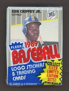 1989 Fleer Ken Griffey Jr TOP - Randy Johnson Bottom Rookie RC - RARE CELLO PACK
