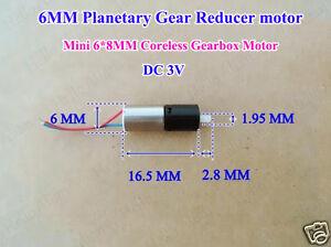 DC 3V Micro Mini 6mm Coreless Planetary Gearbox Gear Motor Reducer DIY Robot Car