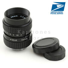 US Television TV Lens/CCTV Lens for C Mount Camera 25mm F1.4 in Black