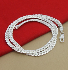 5mm Men Jewellery Chains Necklace Sterling Silver Plated