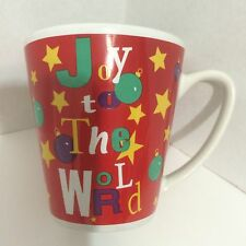 New Red & White Christmas Coffee Mug By Test Rite International Stoneware 12 oz