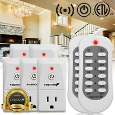 Fosmon 5x Wireless Remote Control Power Outlet Socket Plug Indoor ON/OFF Switch