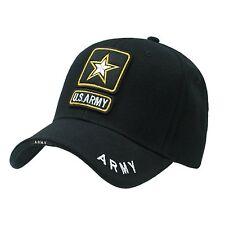 United States USA US Army Black Cap Caps Hat Hats Star