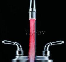 Neu NO Batterie LED 7 Farben Farbwechsel Licht Wasserhahn Wasser Armatur licht Q