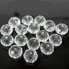 100 x FACETED RONDELLE CRYSTAL GLASS BEADS CHOOSE YOUR COLOUR 4*6MM