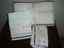 Pottery Barn Kids Hannah Ribbon Twin Quilt w/sham 