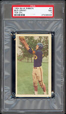 1954 Blue Ribbon Tea #7 Bud Grant Highest Graded Hall of Fame Rookie Card PSA 7+