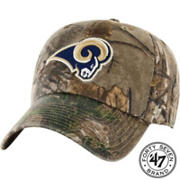 47 Brand Los Angeles Rams Camo Realtree Hunting Football Hat Cap Adjustable