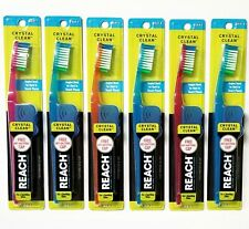 6 Reach Toothbrush Crystal Clean SOFT Bristles Toothbrushes - FREE SHIPPING