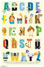 "Disney Alphabet Poster Print 22x34"""