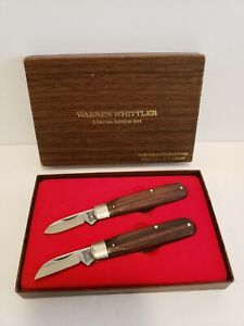 Rare Warren Whittlers Knives Limited Edition Set by Schrade #2810