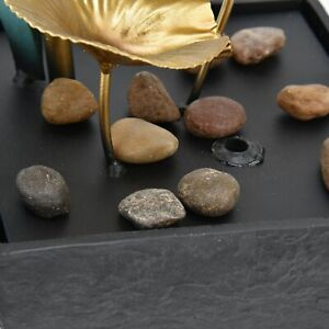 Tabletop Fountain LED Waterfall Fountain Feng Shui Art Craft Decoration AU