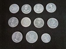 1968 SHELL OIL Mr. President Game Promo Coins LOT of 11 VG+