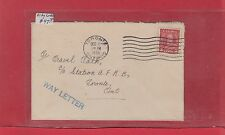 Scarce WAY LETTER Toronto 1936 3c domestic surface rate Canada cover
