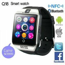Q18 Bluetooth Reloj Inteligente Smartwatch Cámara SIM Para Android IOS Huawei