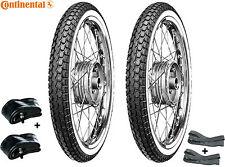 Continental Weißwand Reifen SET 2 1/4 x 19 f. Simson SR2, NSU, Kreidler, Zündapp