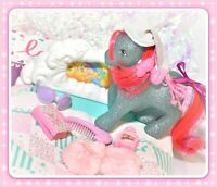 ❤️My Little Pony MLP G1 Vtg Rock-a-Bye Bed Sky Rocket Playset Accessories❤️