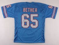 Elvin Bethea Signed Houston Oilers Football Jersey 8x Pro Bowl 5 All Pro Beckett