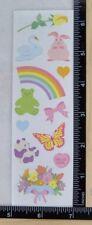 Mrs Grossman PRETTY PASTELS Stickers BEAR BUNNY ROSE BUTTERFLY RAINBOW