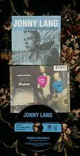 JONNY LANG AUTOGRAPHED SIGNED WANDER THIS WORLD CD w/ GUITAR PICKS! 2 PICK SET!