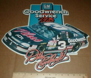 1998 Chevy Monte Carlo Metal #3 racing sign Dale Earnhardt Sr Goodwrench +decals