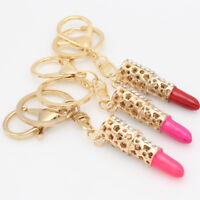 Lipsticks Shape Key Chain Ring Keychain Keyring Key Fob Metal Girls Gifts MP