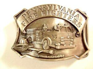 1985 Pennsylvania Fire Fighters commemorative belt buckle: No. 390 of 5000