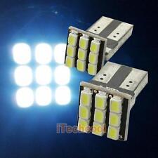 2 x T10 194 168 W5W  9-SMD Car White LED Light DC 12V License Plate Lamp Bulb