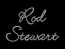 S1 Hot fix diamante rock roll transfer rod stewart iron on motif for t-shirt bag