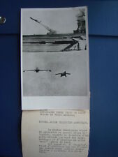 Photo associated press 1954 - Avion Téléguidé américain - photo légendée