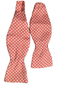 Vineyard Vines Men's Bow tie XOXO V Day Valentines Day Pink White New XO Rare