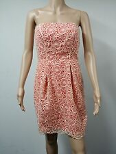 NEW - Jessica Simpson - Size 8 - Strapless Floral Lace Blush Dress - Orange $138