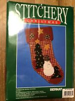 Bernat Crafts STARS IN THE WOODS Christmas Stocking Stitchery Kit #95-6205-00
