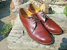 Vintage Frank Wright 'Silver Stud' Brown Shoes. Size 9