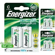 6 x Energizer C 2500 mAh Rechargeable Batteries LR14