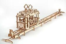 UGEARS Tram with rails - Mechanical Wooden Model Kit 70008