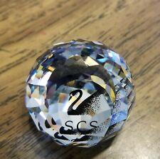 New ListingSwarovski Crystal Black Scs Swan Multifaceted Ball Paperweight, Retired, Vintage