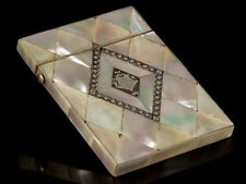 Victorian Mother of Pearl Silver Inlaid Card Case