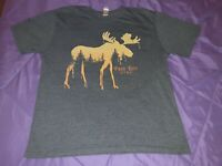 Large men's Park City Utah moose short sleeve gray graphic t-shirt