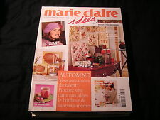 Magazine revue MARIE CLAIRE IDEES   n°58...automne 2005