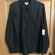 NWT BONGO Denim Shirt, Blue, XL