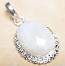 Fuego Blanco Arcoíris Piedra Lunar ópalo plata de ley 925 4.4cm Colgante p08637