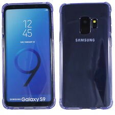 Samsung Galaxy S9 Bumper Case klar lila Tasche Silikon transparent Cover Schutz