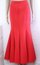 WHY Pleated, High Waist Mermaid Style Long Skirt Red Size Small