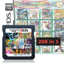 208 in 1 Game Cartridge Video Game Card Supports DS NDS NDSL NDSi 2DS 3DS 3DSLL