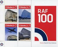 Gibraltar 2018 MNH RAF Royal Air Force Centenary 4v M/S Aviation Stamps