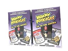 2018 TOPPS WACKY PACKAGES GO TO THE MOVIES BLASTER BOXES ( 2 BOX LOT )