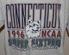 UCONN Huskies 1996 NCAA Super Sixteen Men's Gray T Shirt Size Medium